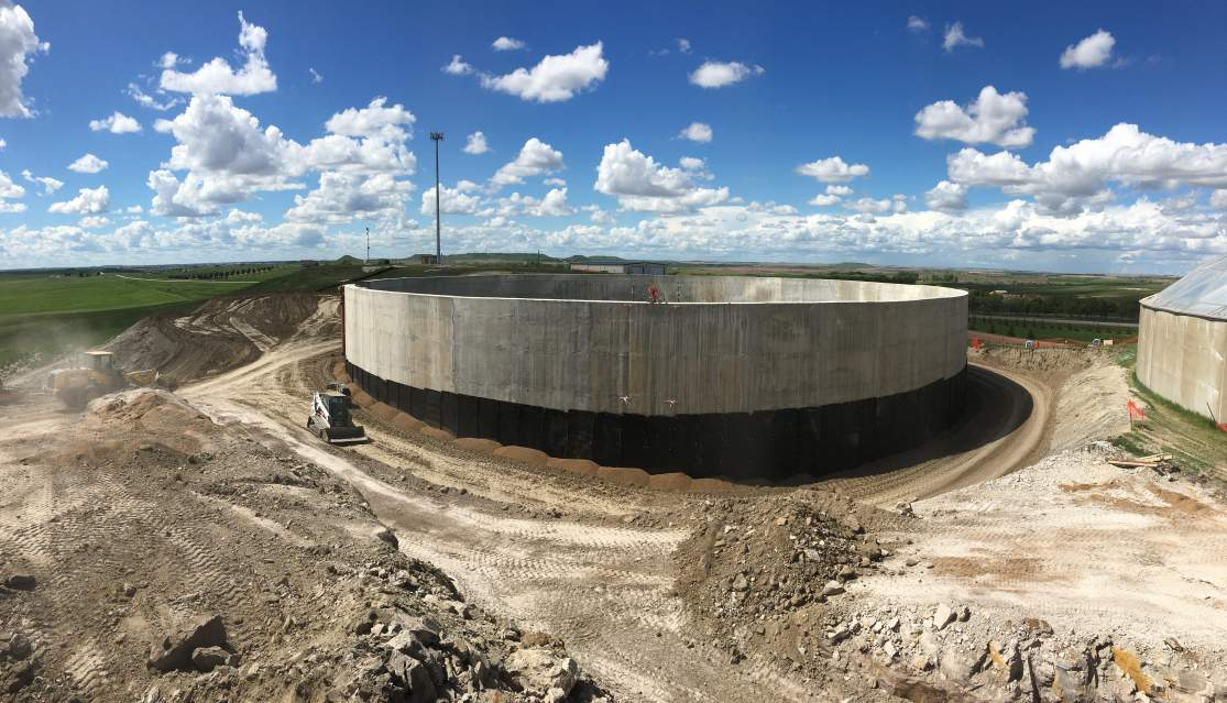 Reservoir backfill progress looking Northwest.