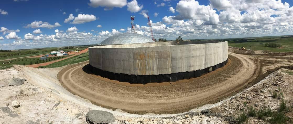 Reservoir backfill progress looking Southeast.