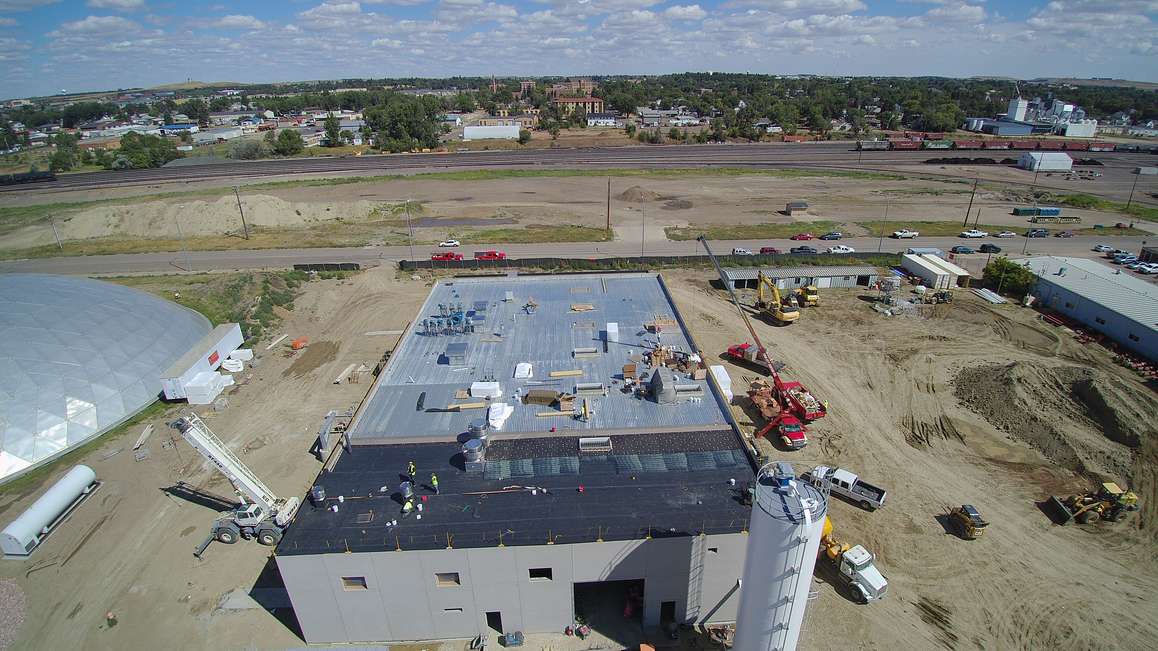 Drone captured pictures of the new water treatment plant.