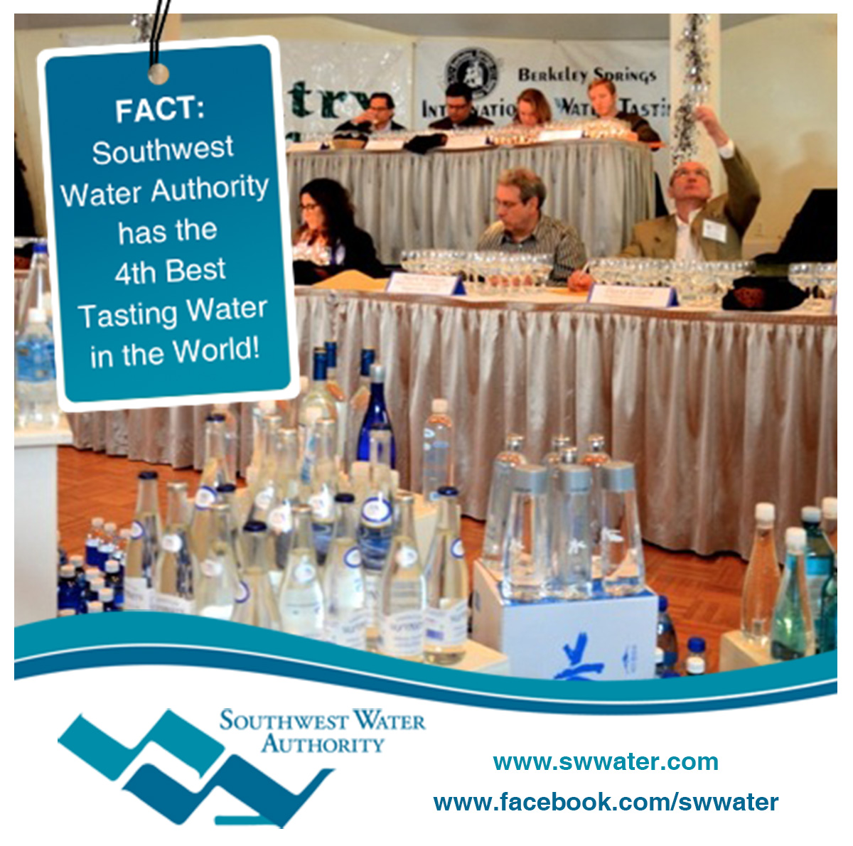 Southwest Water Authority has the 4th Best Tasting Water in the World!