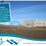 The OMND Water Treatment Plant has a capacity of 3.5 million gallons a day of water, when upgrades are complete the plant will have a capacity of 5.25 MGD.