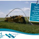 The first pipeline laid for the Southwest Pipeline Project was in 1986.