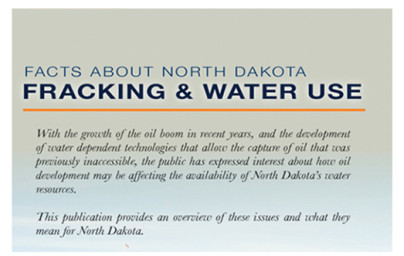 Facts About ND Fracking And Water Use