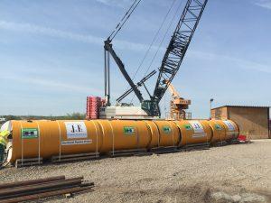 The 136,000 lbs., $5 million dollar microtunneling machine.