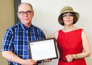 John Nadvornick and SWA Manager/CEO Mary Massad