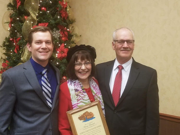 SWA Legal Counsel Jack Dwyer, SWA Manager/CEO Mary Massad - Water Wheel Award and Senator Mike Dwyer.