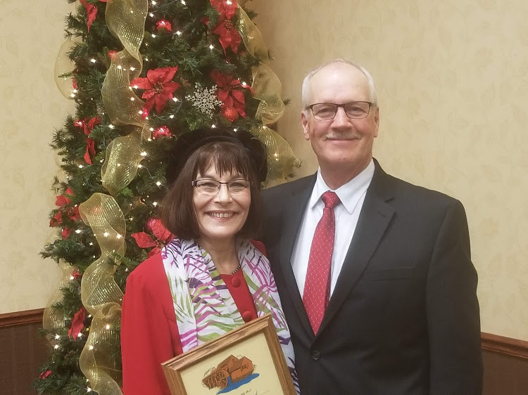 SWA Manager/CEO Mary Massad - Water Wheel Award and Senator Mike Dwyer.