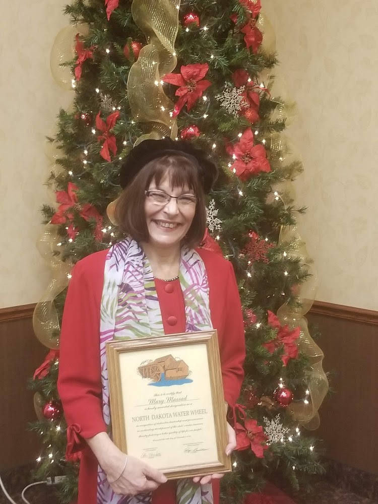 SWA Manager/CEO Mary Massad - Water Wheel Award.