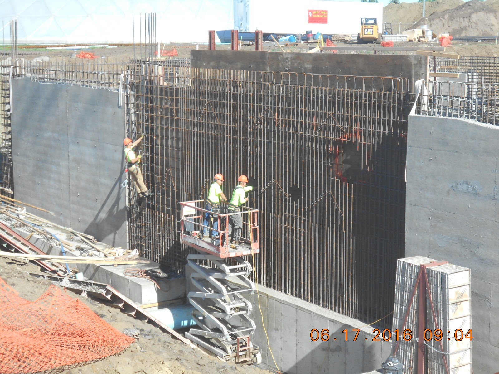 JTJ working on the south exterior wall at the Coag Pit .