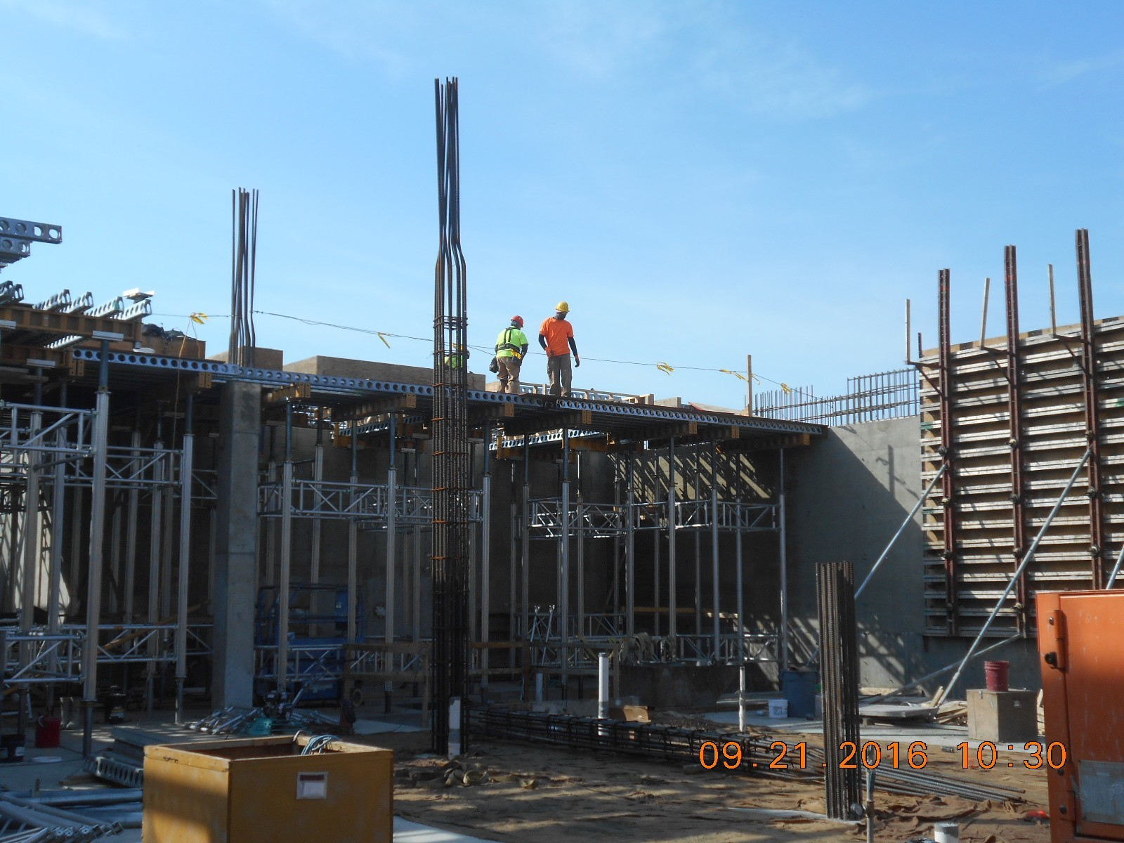 JTJ working on shoring and decking for the first floor slab (pour 2).
