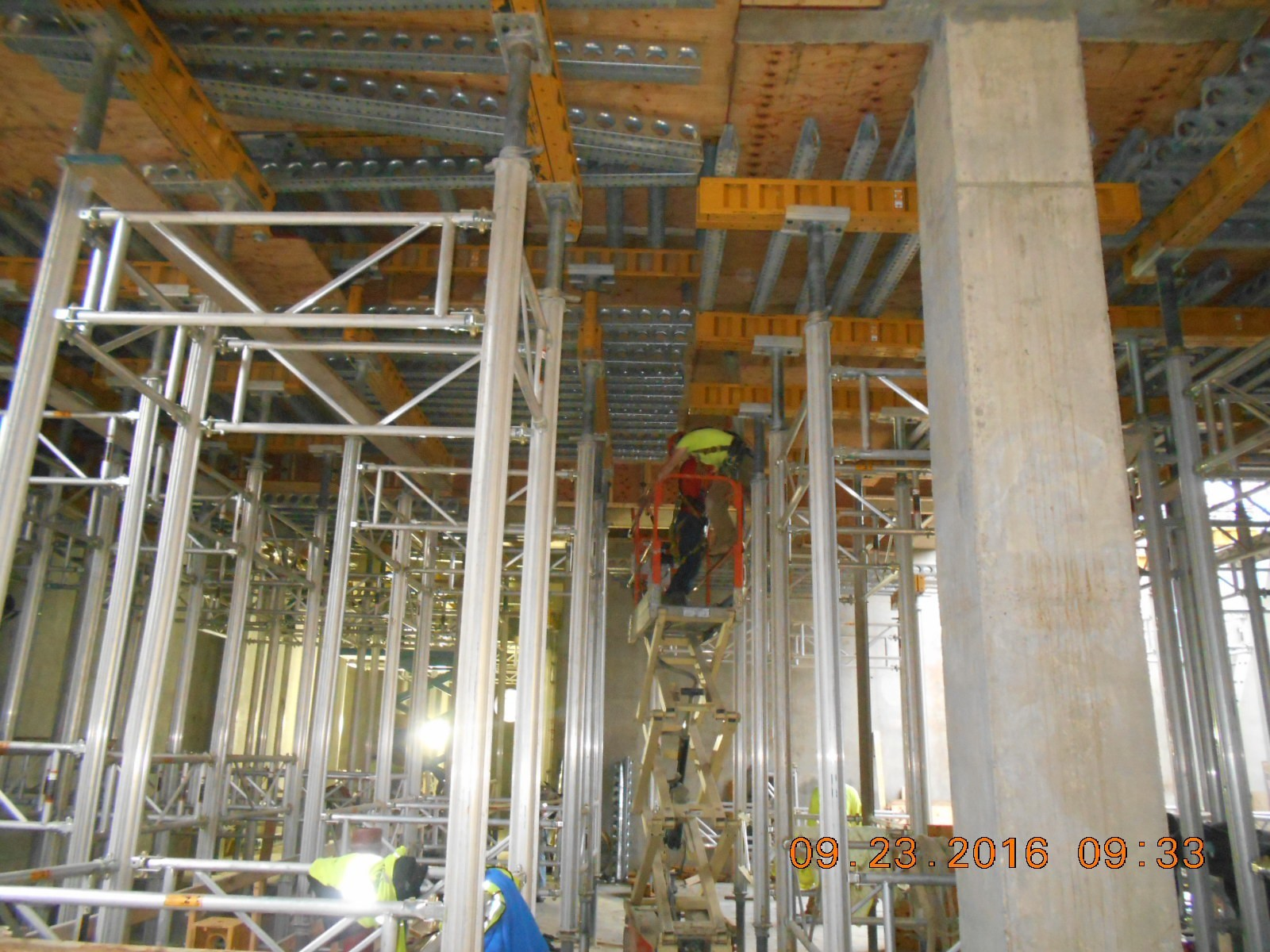 JTJ removing the shoring and decking from the bottom of the first floor, pour #1.