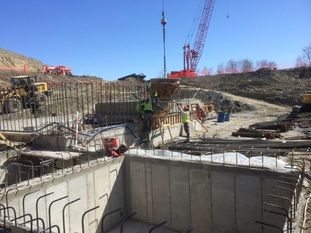 JTJ Workers Pouring the Southern Portion of the Western Clarifier Footing Wall.