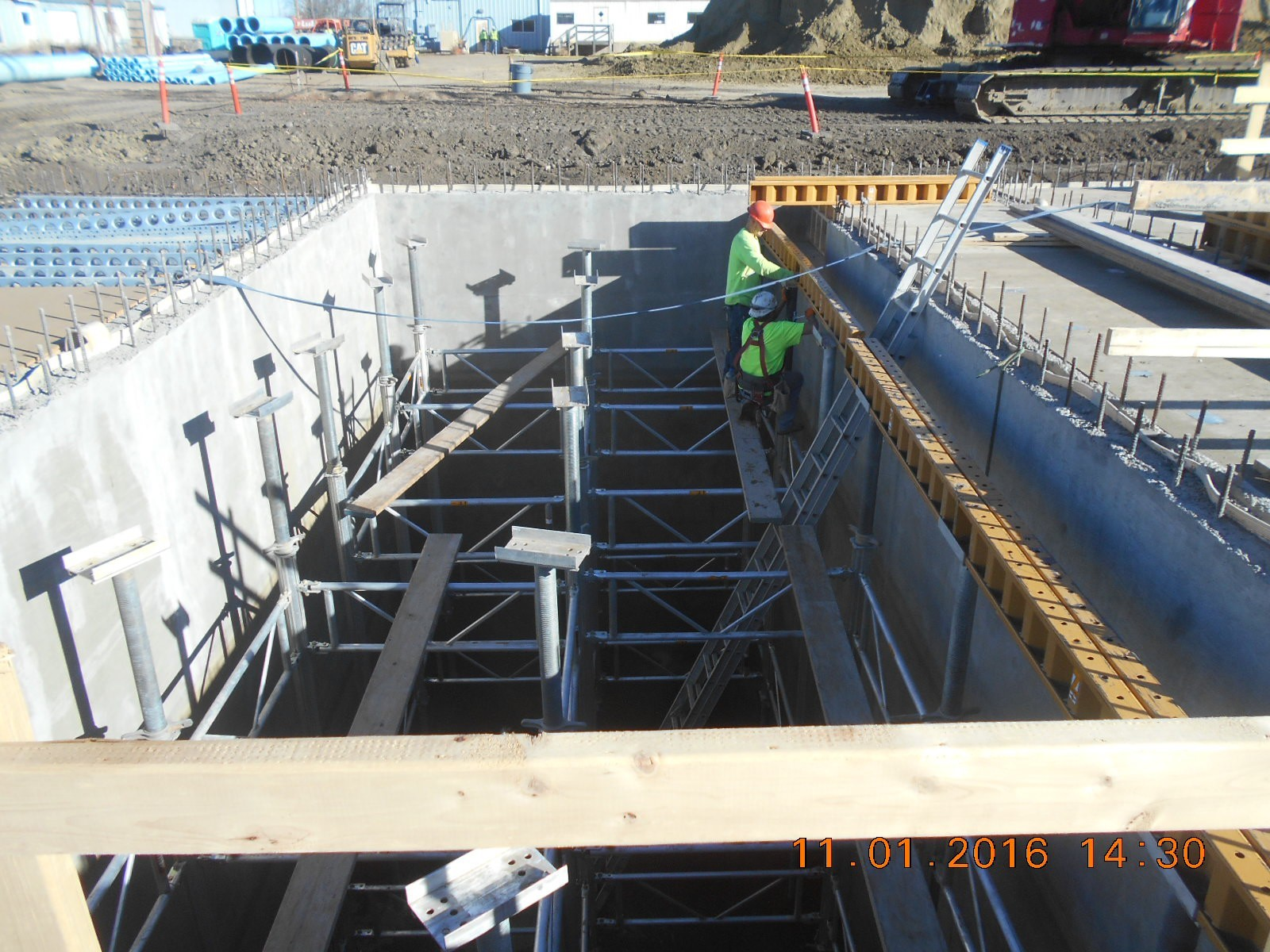 JTJ placing shoring for the first floor slab pour 3.