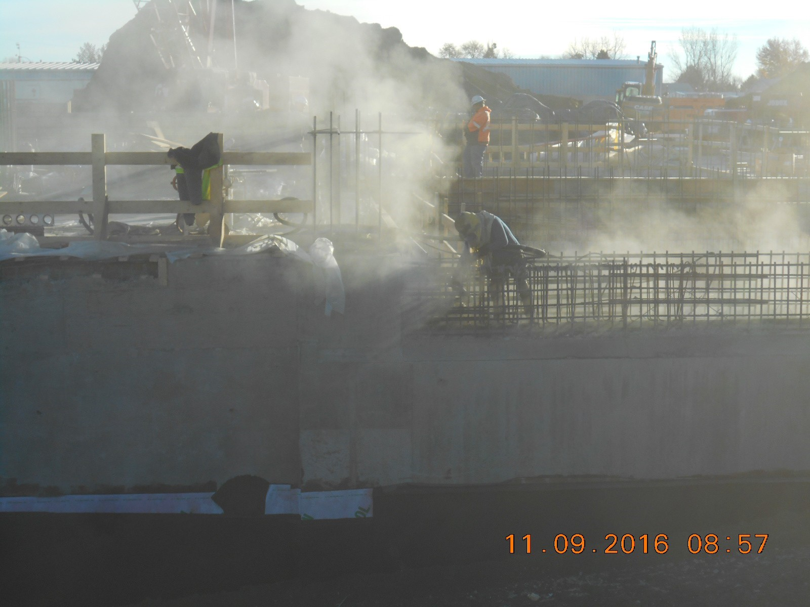 JTJ sandblasting the top of the Ozone Basin walls.