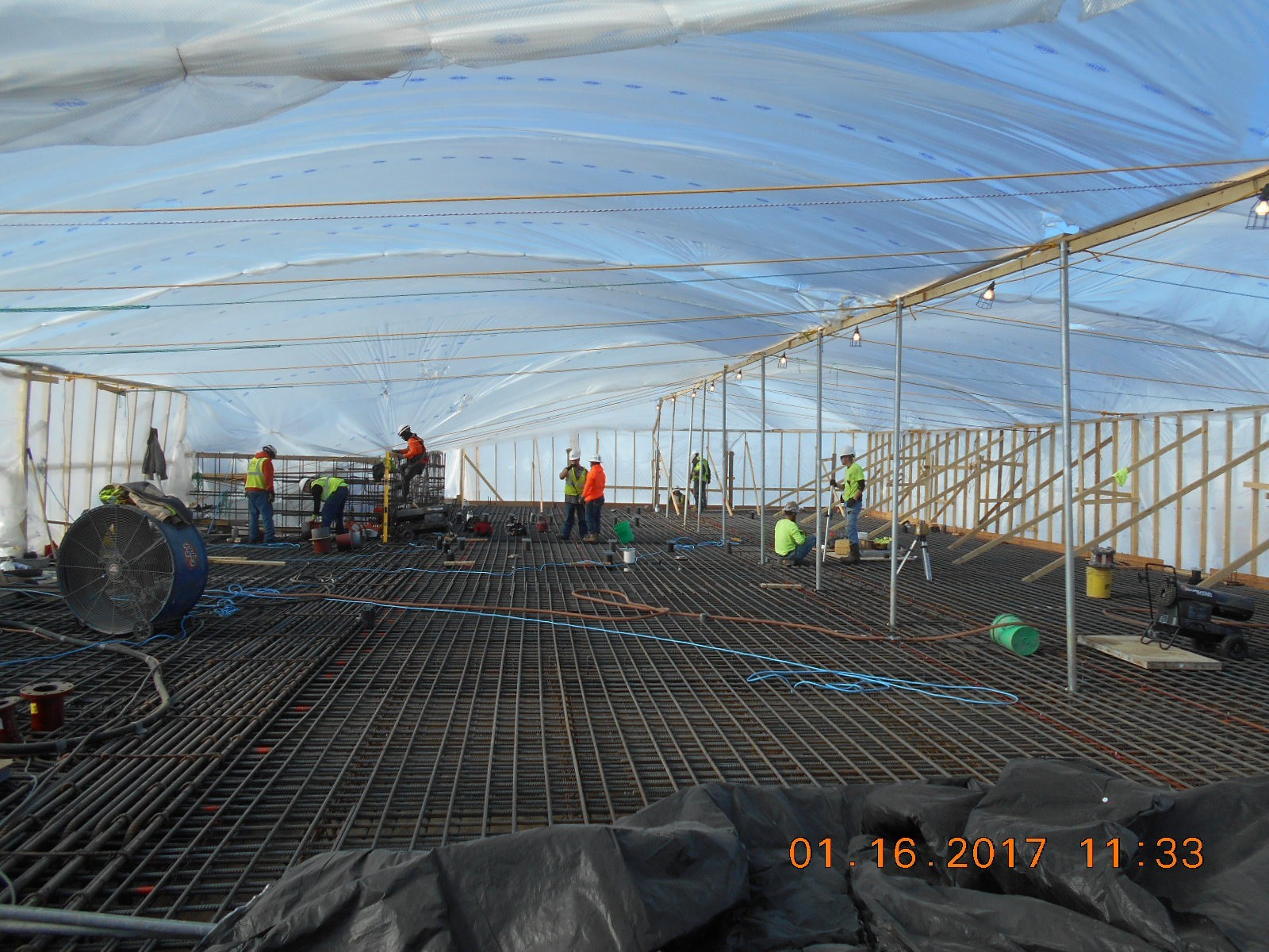 JTJ working on the area of the first floor slab, pour 4.