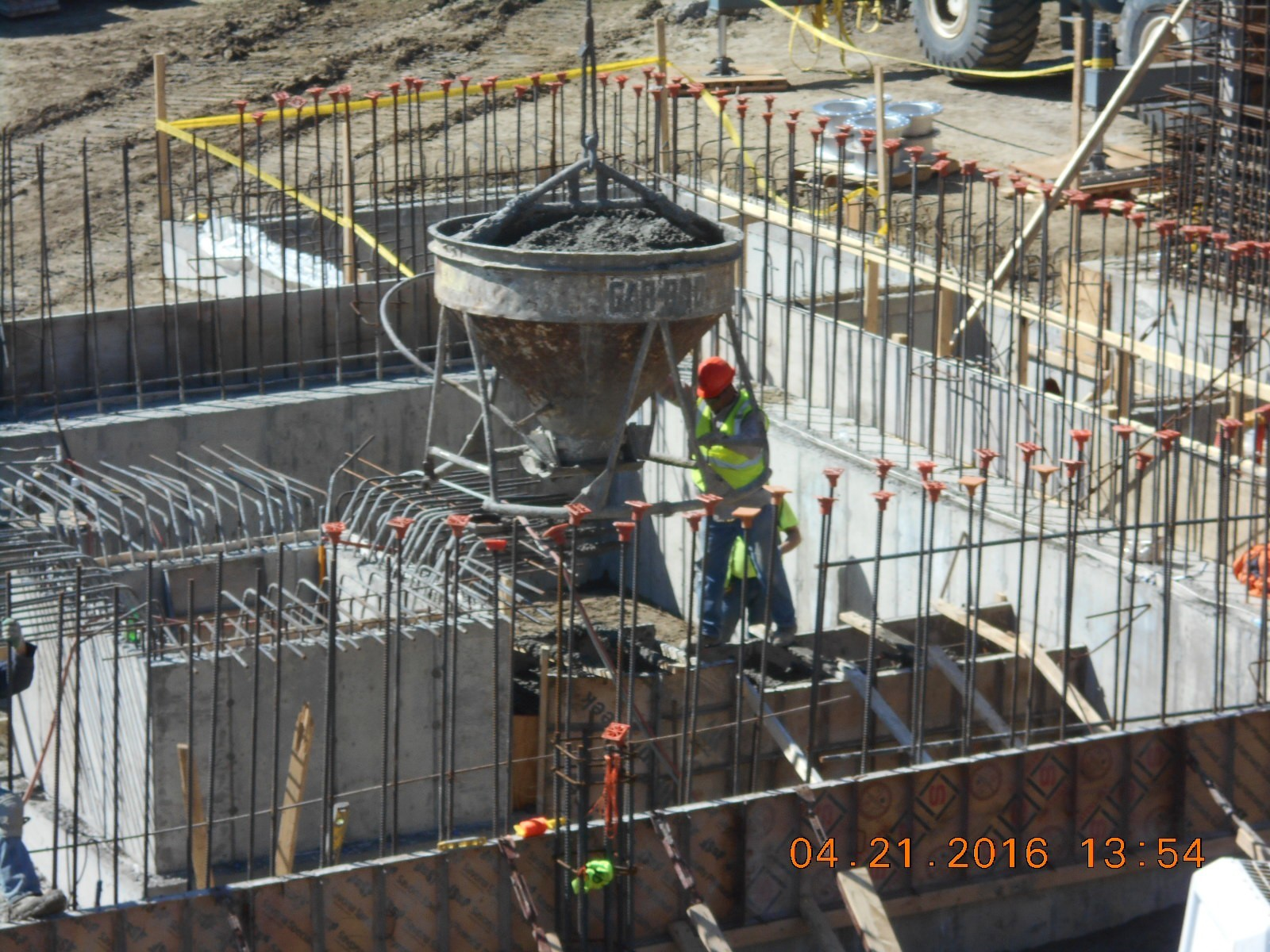 JTJ placing concrete pipe encasement for 6