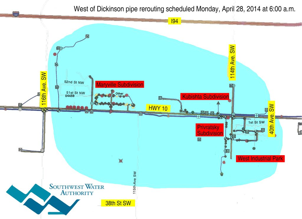 SWPP - MTL pipe reroute - West of Dickinson