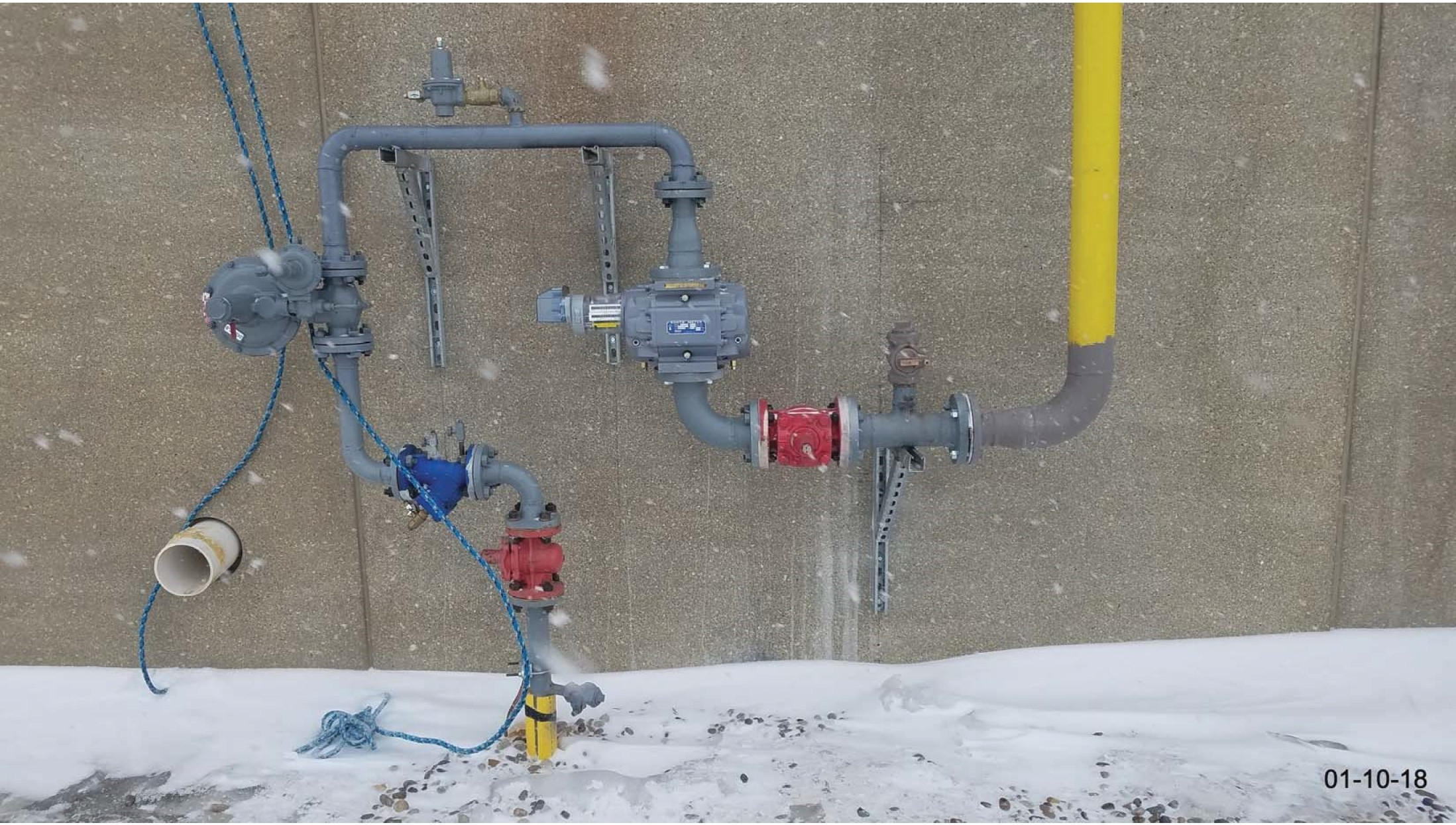 MDU installed the natural gas meter on the west side of the plant.